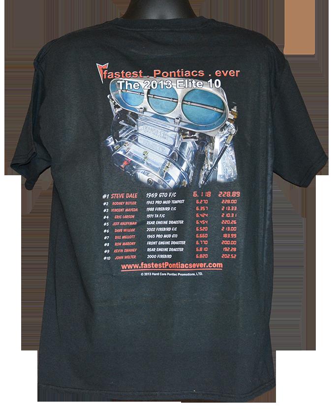 fPe 2014 Elite 10 member Pontiac t shirt back