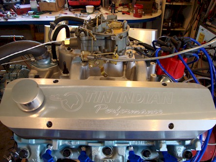 Mickey's 400 cid Pontiac engine on the dyno