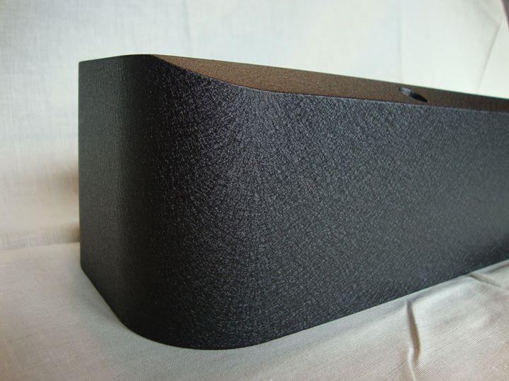 Black Crinkle Coat Billet-TEK Pontiac valve cover close up side