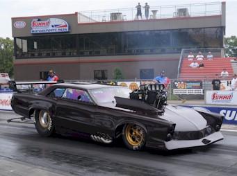 Mellott's 65 Pro Mod GTO on the track