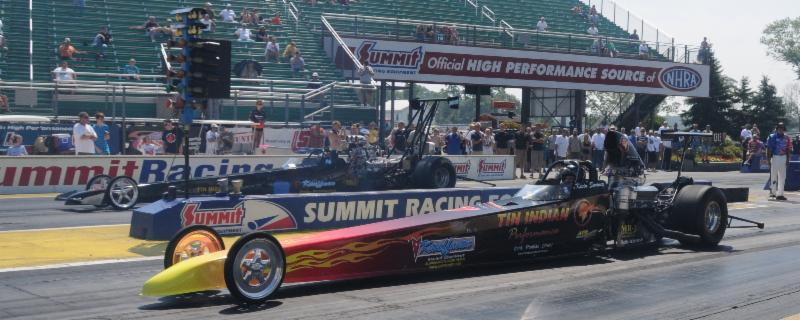 2 Pontiac powered Dragsters at Norwalk