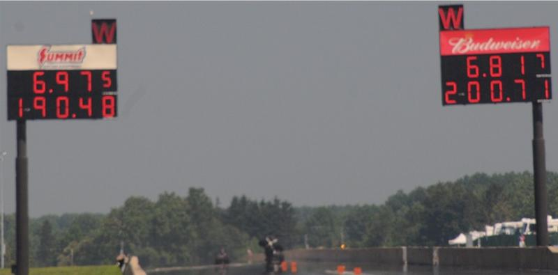 Two 6 second dragster passes
