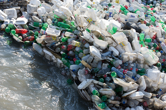 Plastic in Haiti's waterways