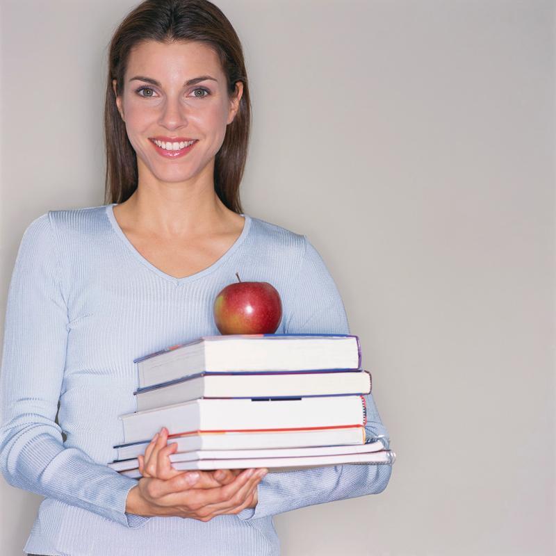 Teacher books apple