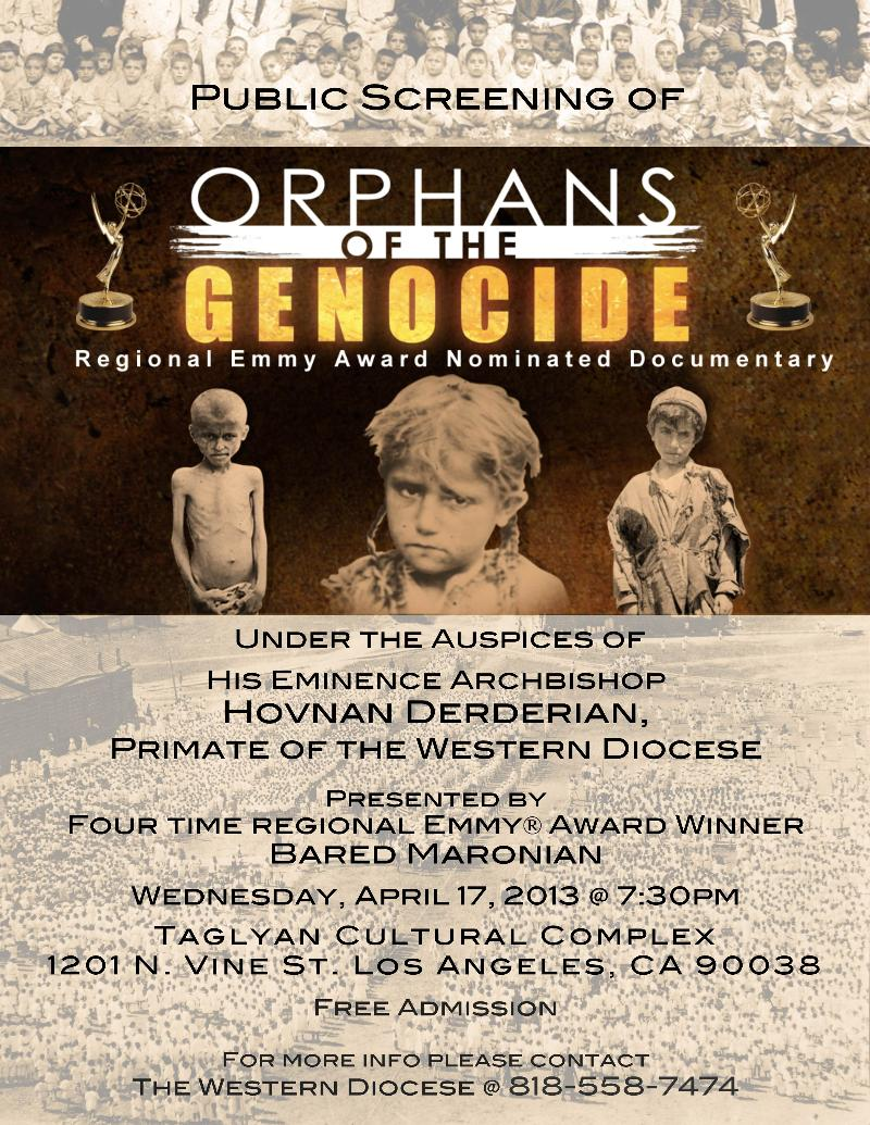Orphans of the Genocide-Public Screening