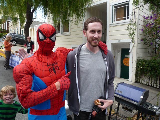 Scott at the Fairmount block party
