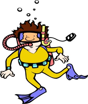 cartoon diver