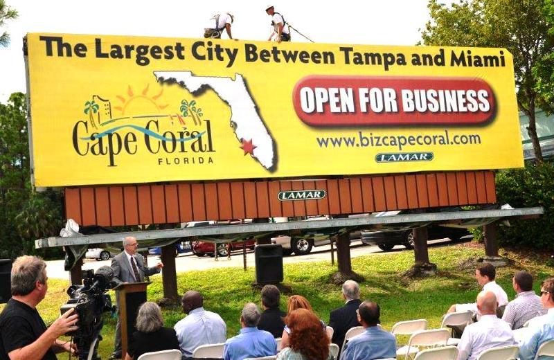 Cape Coral EDO Billboard Unveiling