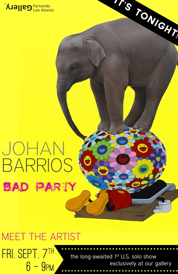 TONIGHT Johan Barrios Solo Show 6-9pm