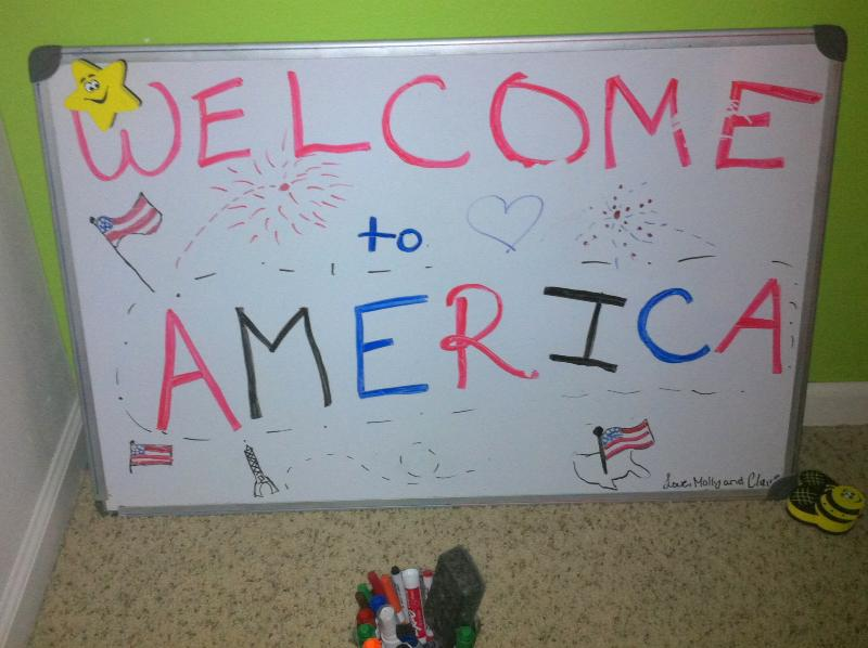 Welcome to America!