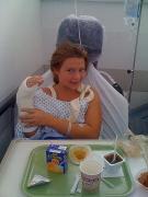 Olivia in hospital 1/2 size