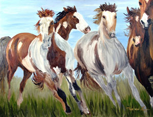 Mustangs in the Wild by Michael Lee