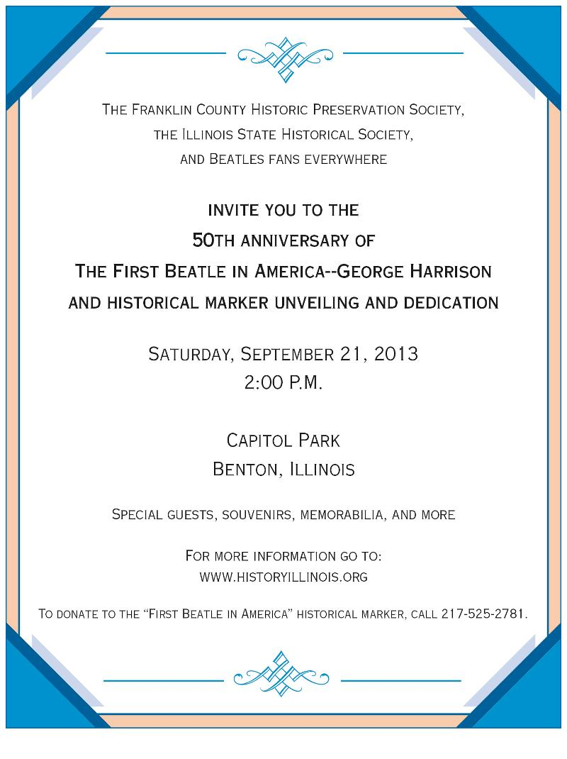 Harrison Marker invitation