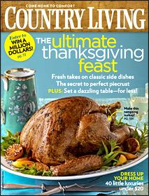 November Country Living Cover