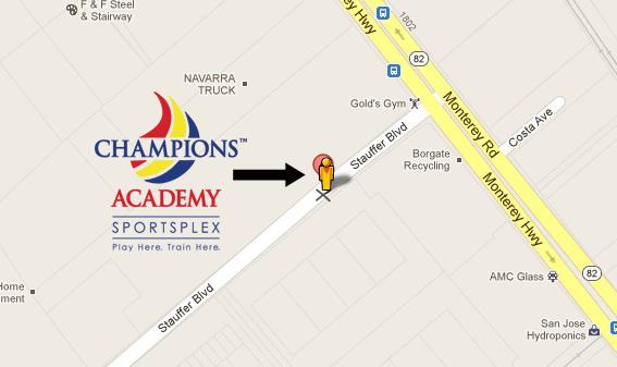 Champions Academy Sportsplex Map