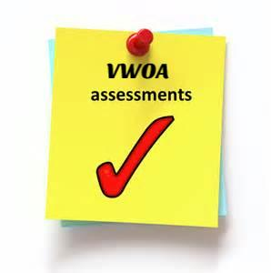 Image of yellow Post It note with the Assessment and red check mark.