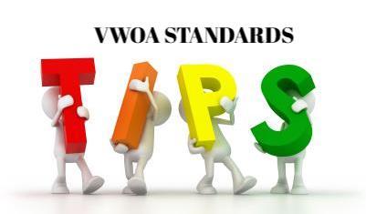 VWOA Standards Tips