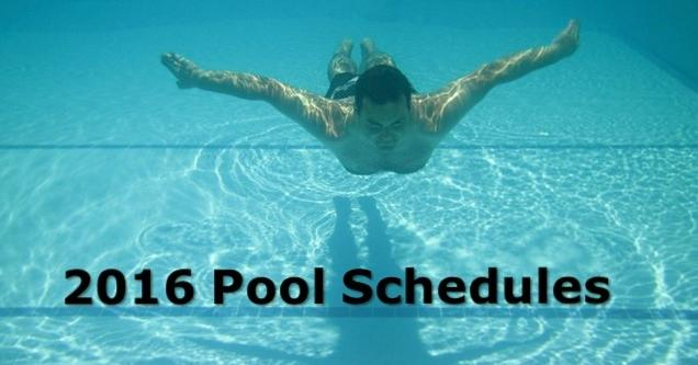 Image of man swimning under water.  2016 Pool Schedules