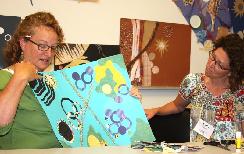 Educators describing their art