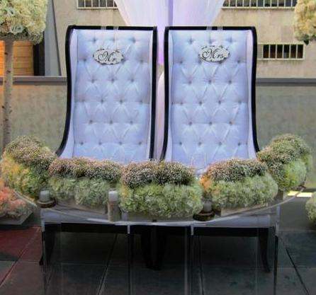 bride and groom seat