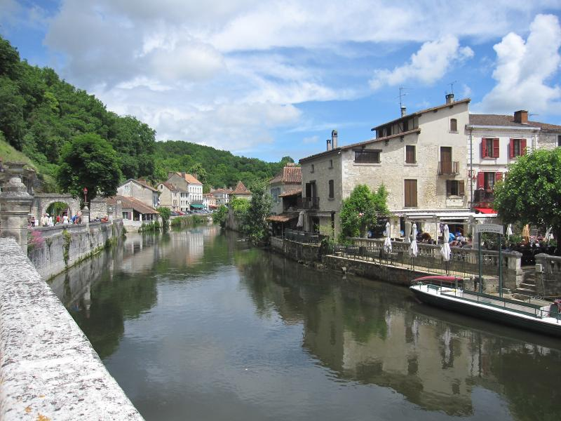 The village of Brantome in the French Countryside