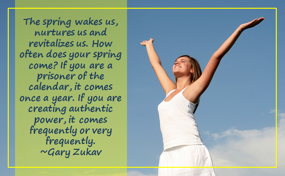 The spring wakes us...