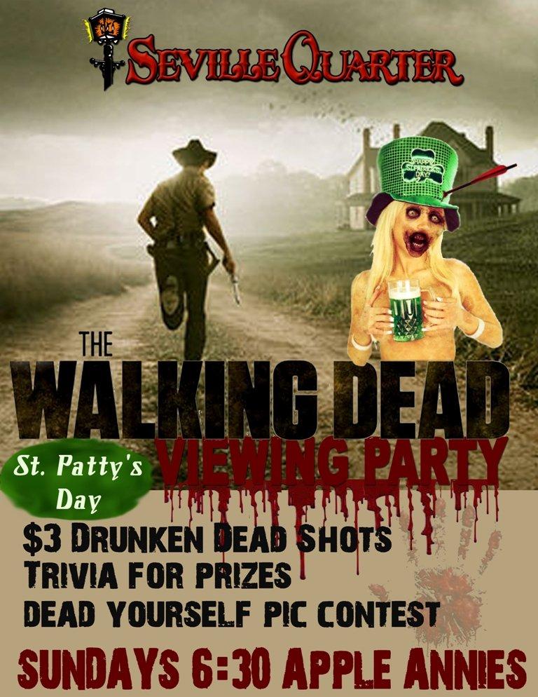 AMC's The Walking Dead will be shown at Seville Quarter!! 177