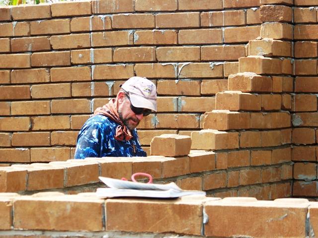 Pr George layin...the Bricks