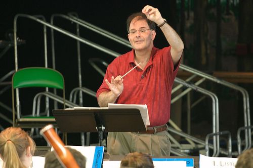David Martins conducting the 2007 Young Artists Wind Ensemble