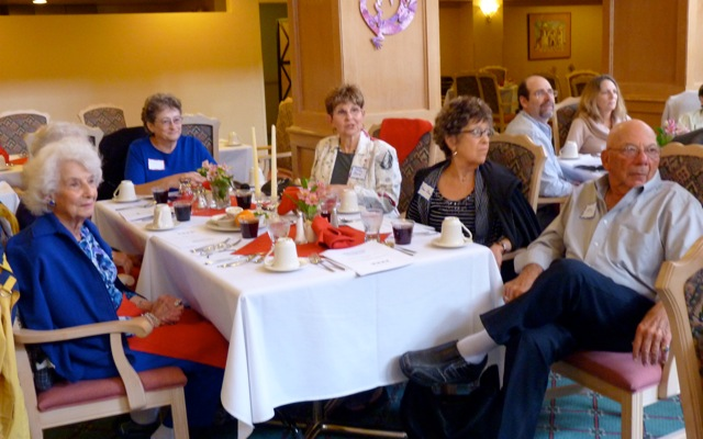 Passover group at table 2012
