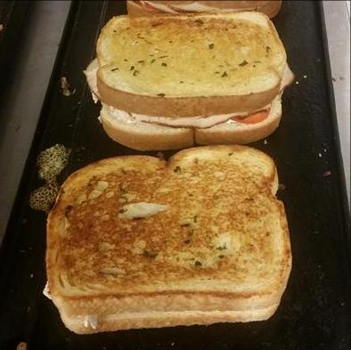 Fromage Sandwiches on Grill