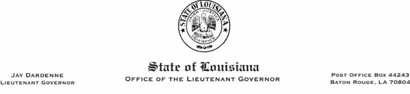 Office of the Louisiana Lieutenant Governor's Header