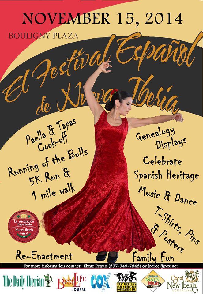 El Festival Espanol de Nueva Iberia 2014 Poster
