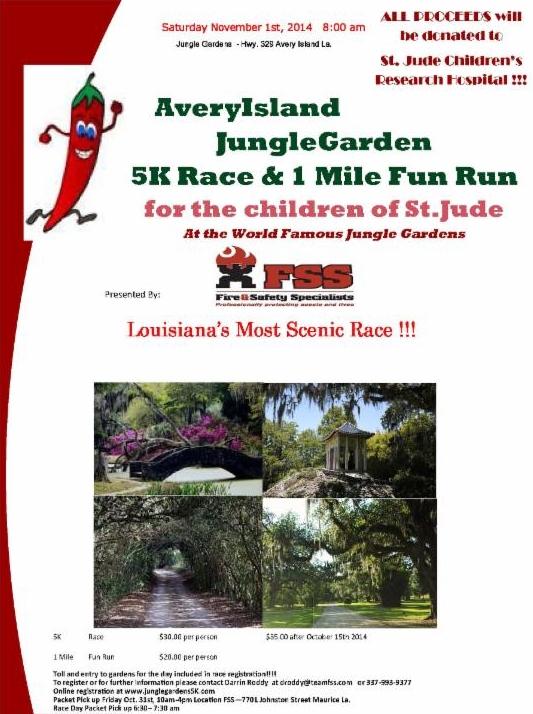 Jungle Gardens 5k Flyer