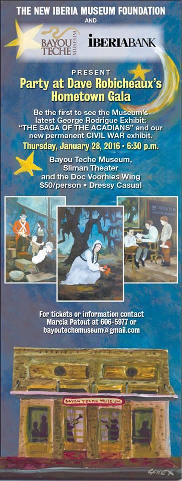 Bayou Teche Museum 2016 gala