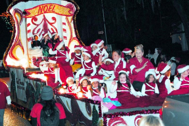 Children on Christmas Parade Float