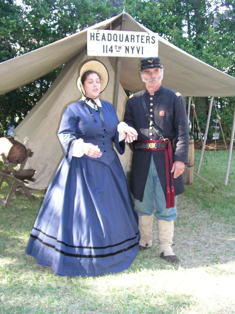 Shadows on the Teche Civil War Encampment Couple in Costume