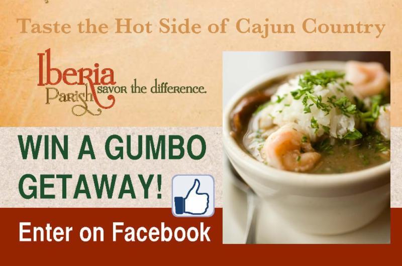 Win a gumbo getaway! Enter on Facebook.