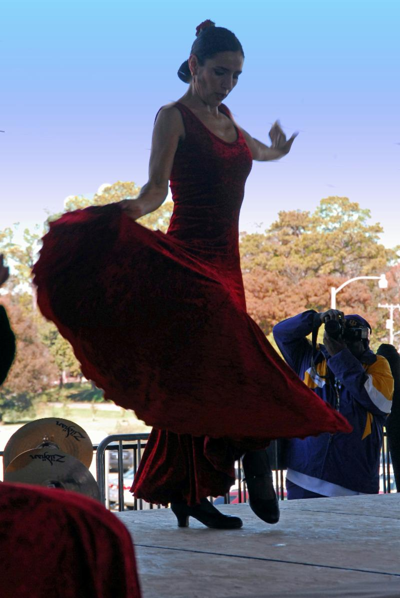 Flamenco Dancer at El Festival Espanol de Nueva Iberia