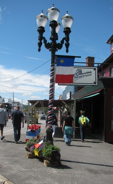 Decorated street at Congres Mondial Acadien