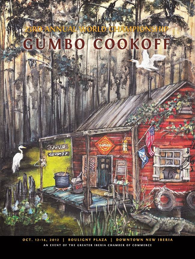 2012 Gumbo Cookoff poster