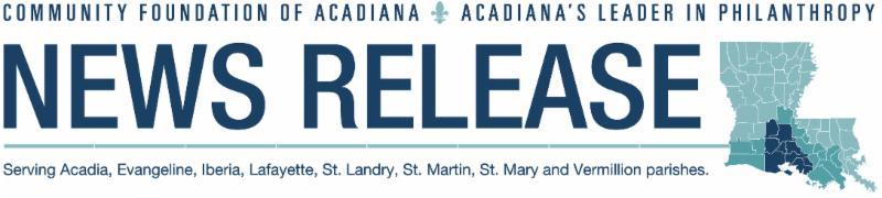 Community Foundation of Acadiana Header