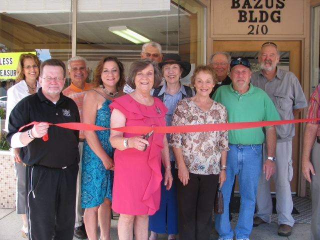 ribbon cutting of timeless treasures antique store in new iberia