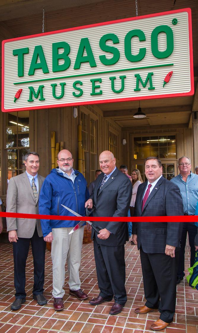 Tabasco visitor center ribbon cutting