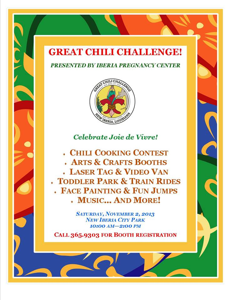 Great Chili Challenge New Iberia flyer