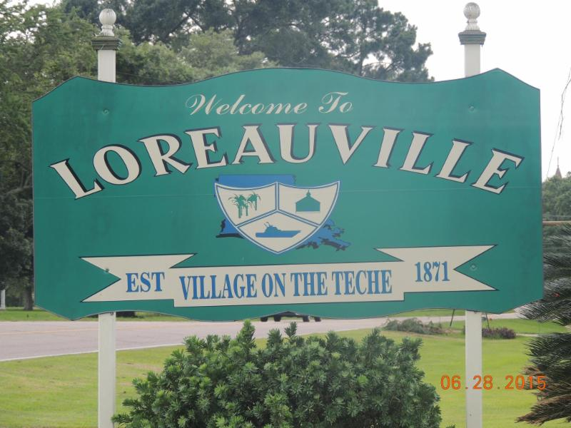 Loreauville Welcome Sign