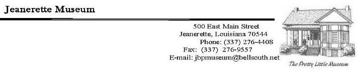 Jeanerette Museum Header