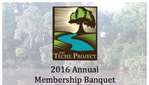 Teche Project Banquet Flyer