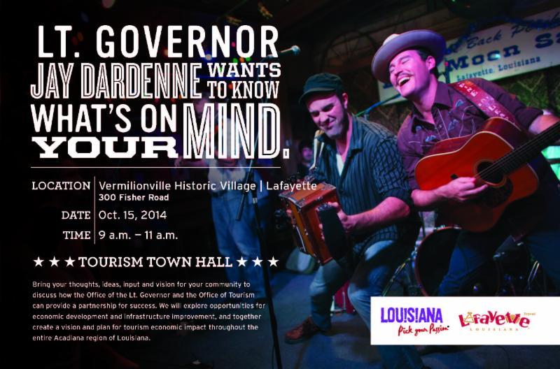 Tourism Town Hall Lafayette Invitation