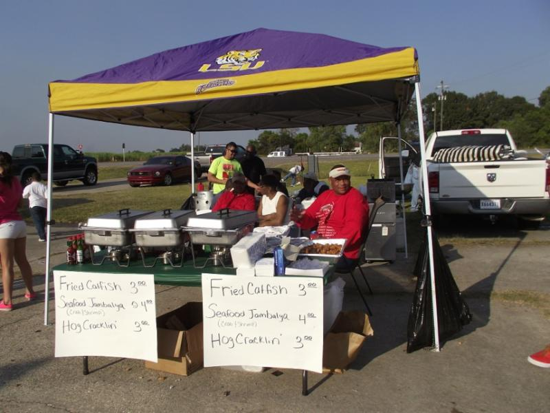 Food booth at the Southern Soul Food Showdown